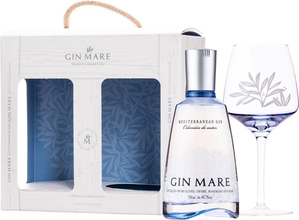 Gin Mare Gin Mare + pohár 42,7% 0,7l