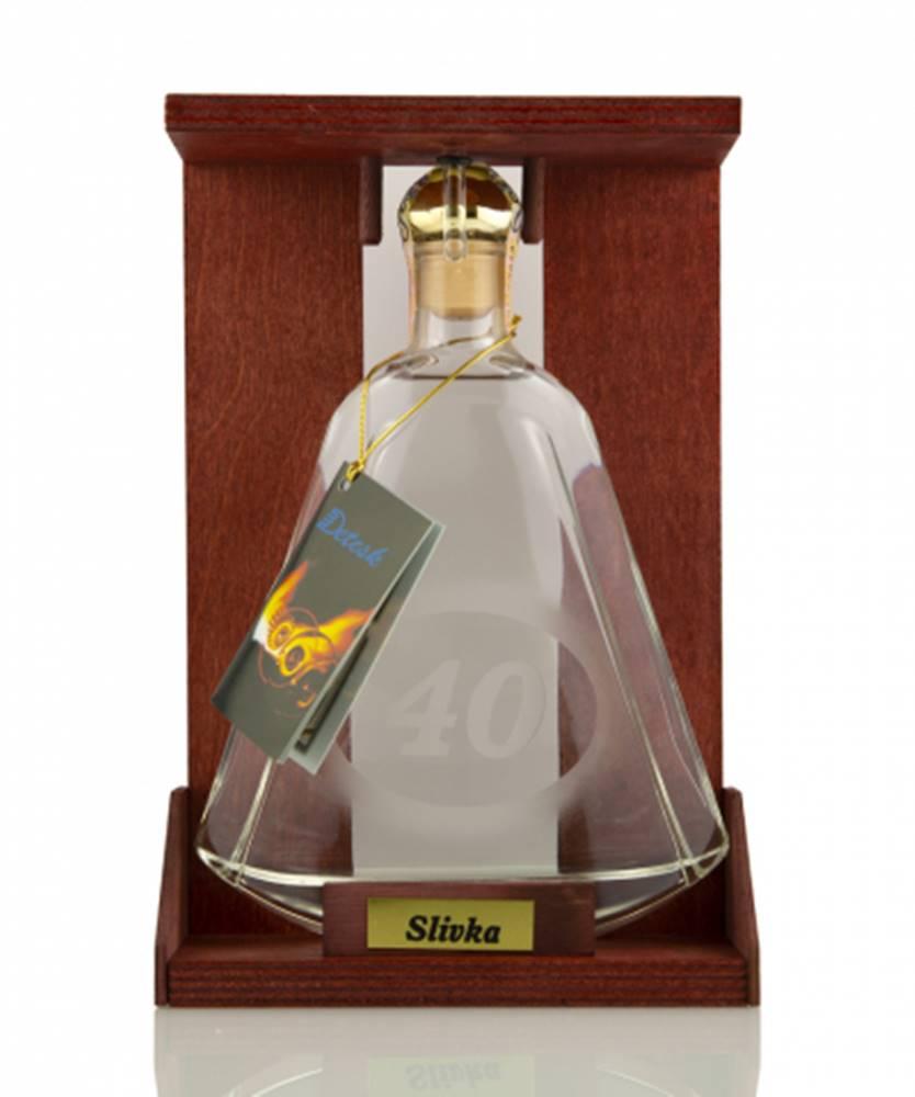 "DETESK Fľaša s číslom ""40"" 0,35l (40%)"