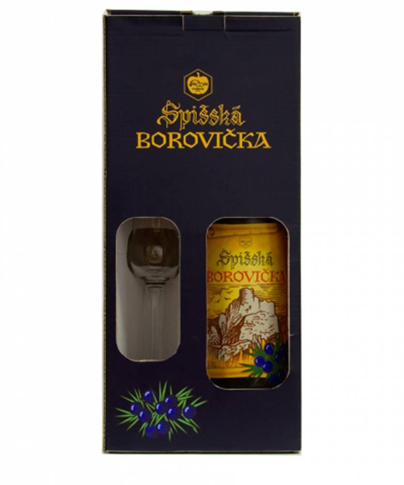 Frucona Spišská borovička 0,7l + pohár (40%)