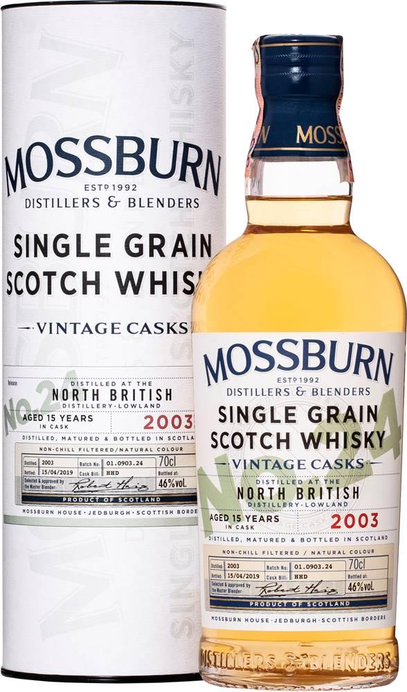 Mossburn Mossburn Vintage Casks North British 15 ročná No.24 46% 0,7l