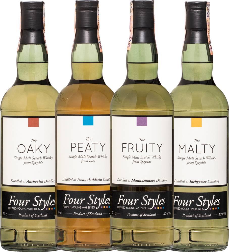 Four Styles Set Four Styles Whisky