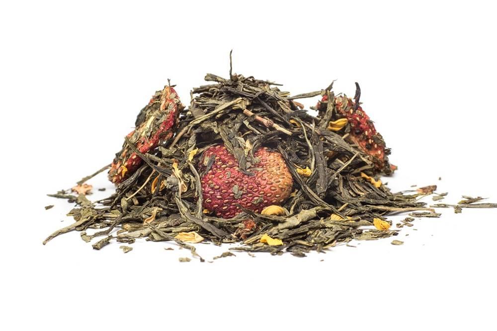 Manu tea VANILKOVÁ JAHODA - zelený čaj, 10g