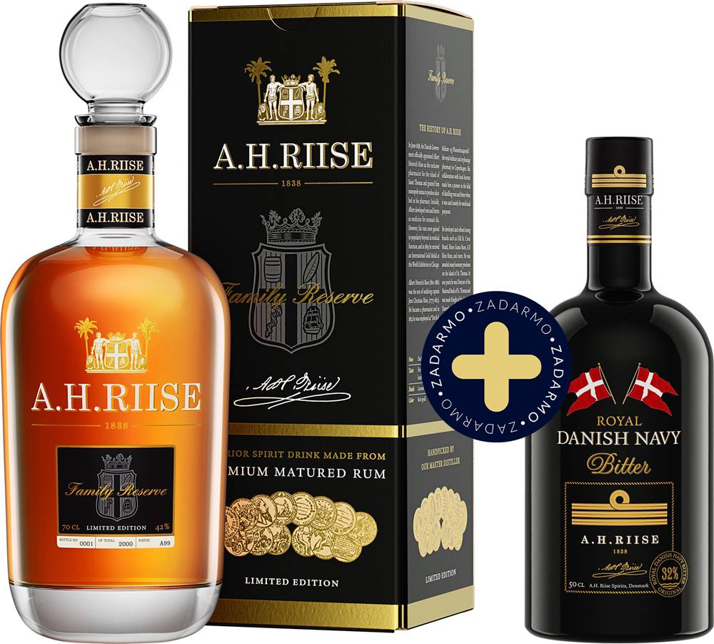A.H. Riise Set A.H. Riise Family Reserve + Westindian Bitter zadarmo