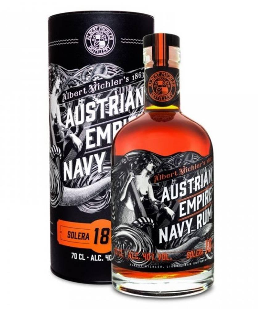 Albert Michler Distillery Austrian Empire Navy Rum 18y 0,7l 40% Tuba