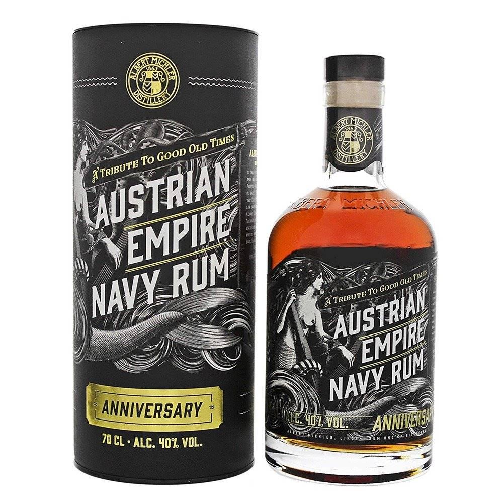 Albert Michler Distillery Austrian Empire Navy Rum Anniversary 0,7l 40% Tuba