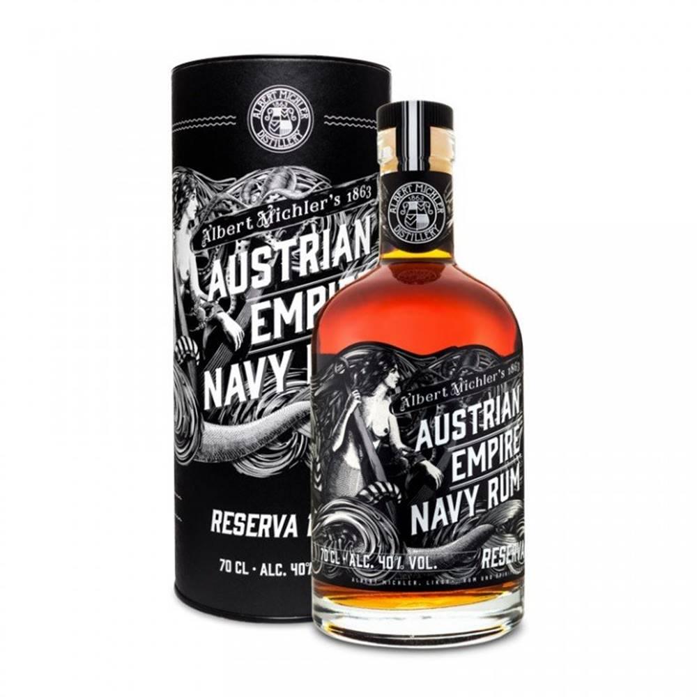 Albert Michler Distillery Austrian Empire Navy Rum Reserva 1863 0,7l 40% Tuba