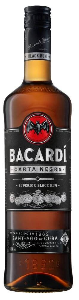Bacardi Carta Negra 4y 1l 40%