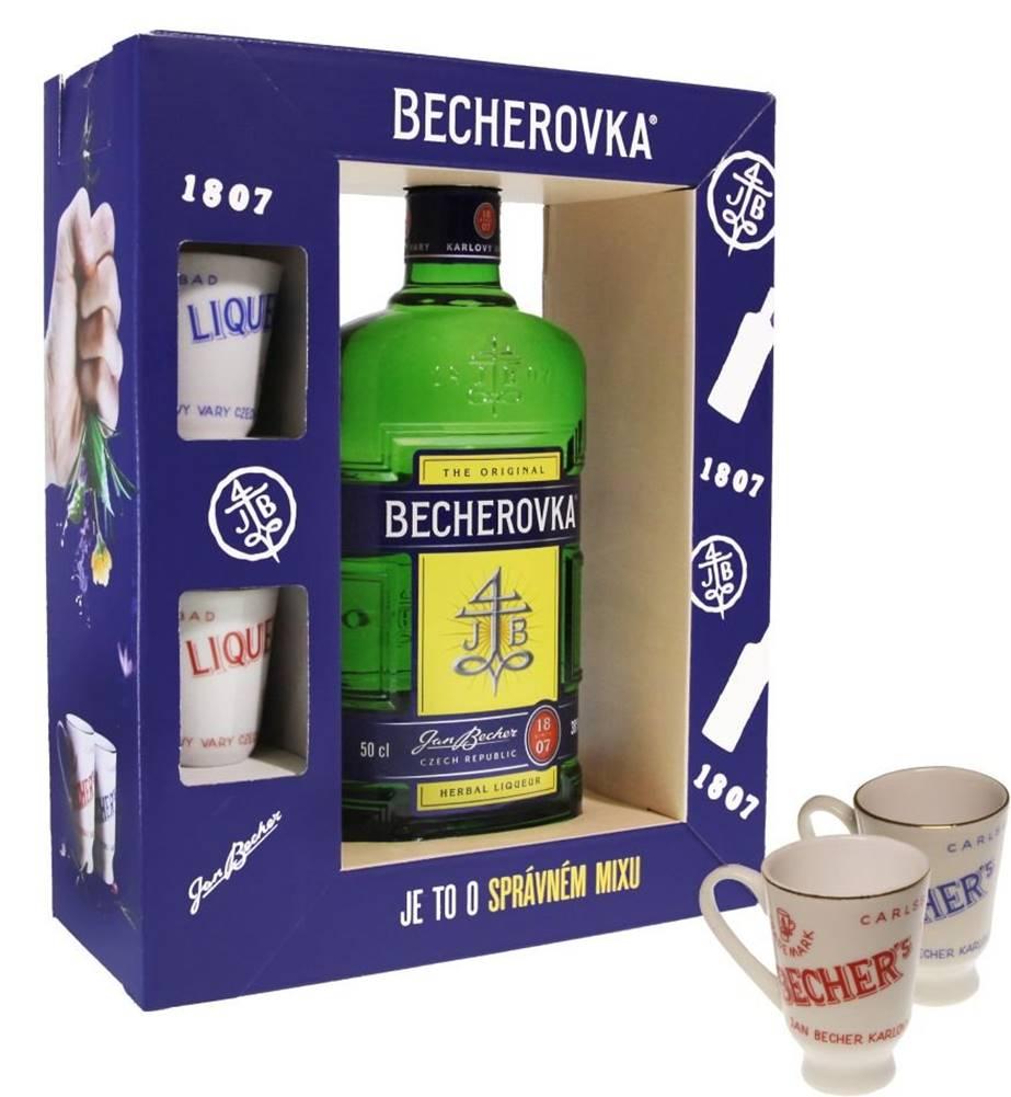 Becherovka 0,5l 38% + 2x sk...