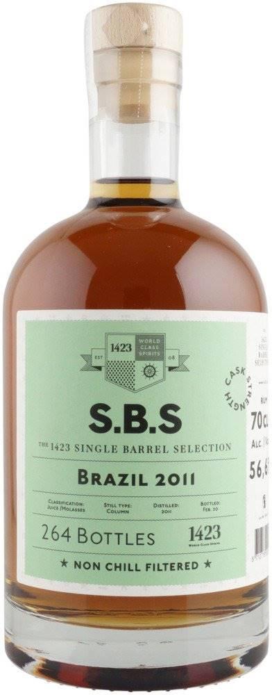 1423 – World Class Spirit S.B.S Brazil 9y 2011 0,7l 56,6% L.E. / Rok lahvování 2020
