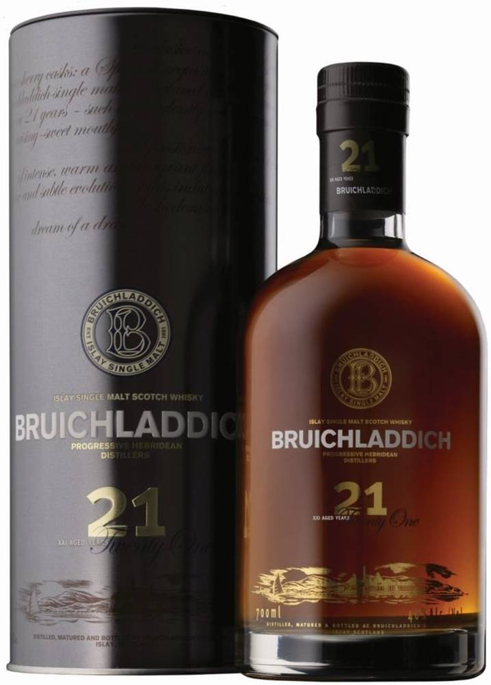 Bruichladdich Bruichladdich 21y 0,7l 46% Tuba / Rok lahvování 2008