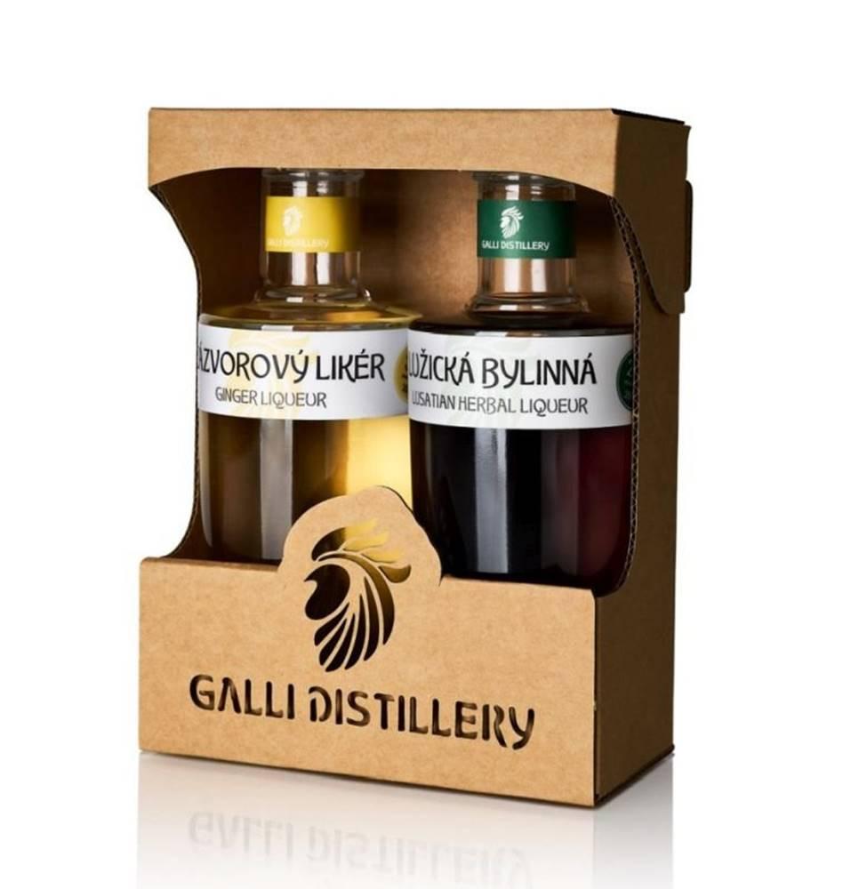 GALLI DISTILLERY Galli dárkové balení Lužická bylinná a Zázvorový likér 2×200l