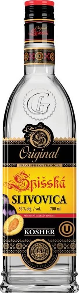 Originál Spišská Spišská Originál Slivovice Kosher 0,7l 52%