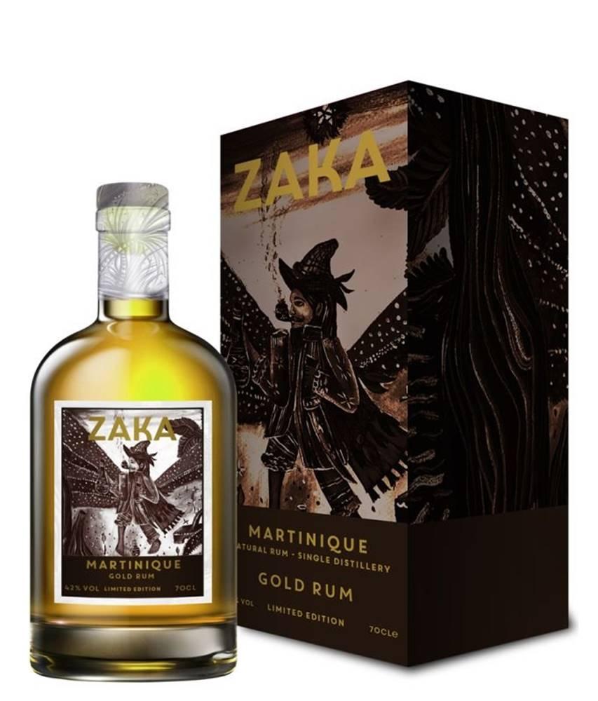Zaka Zaka Martinique Gold Rum 0,7l 42% Papír Sklo