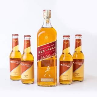 Johnnie Walker Red Label 1l + 4x Ginger Ale