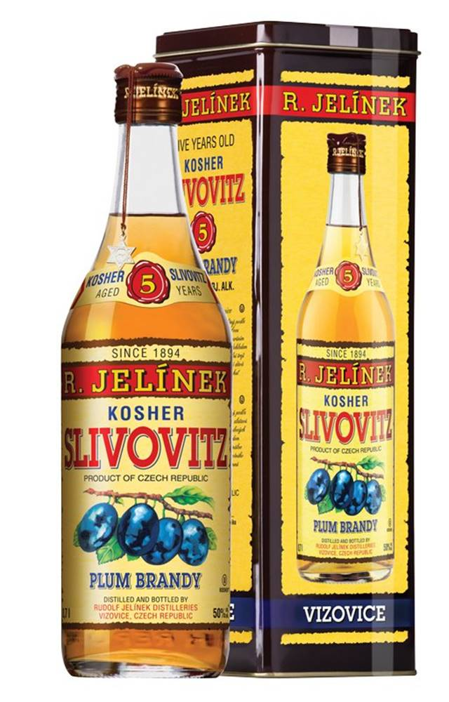 Rudolf Jelínek Slivovice Kosher Gold 5y 0,7l 50% Plech