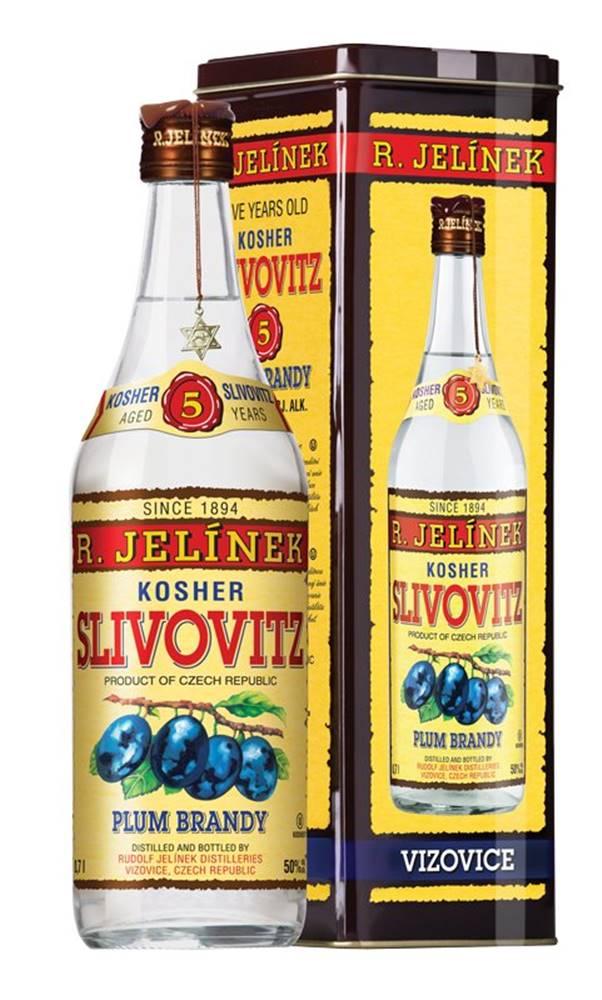 Rudolf Jelínek Slivovice Kosher Silver 5y 0,7l 50% Plech