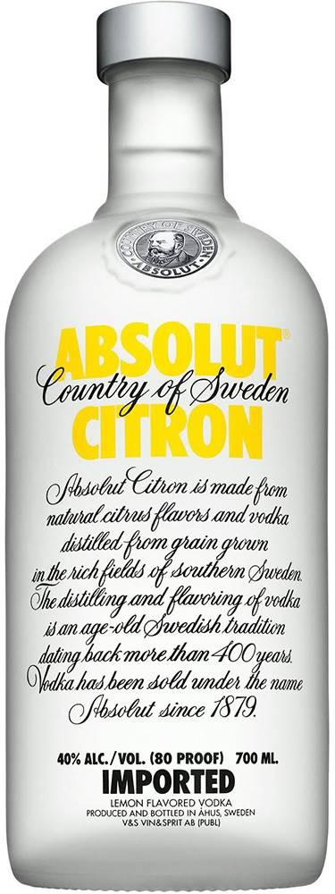 Absolut Absolut Citrón 40% 0,7l