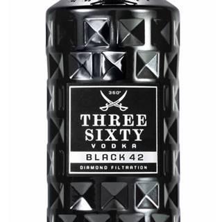 Three Sixty Black 42 Vodka 42% 1l
