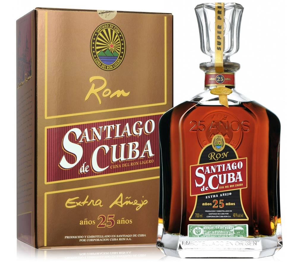 Santiago de Cuba Santiago de Cuba Extra Anejo 25 ročný 40% 0,7l