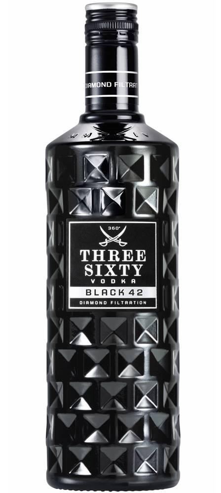 Three Sixty Three Sixty Black 42 Vodka 42% 1l