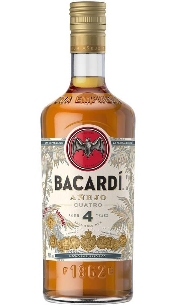 Bacardi Bacardi Anejo Cuatro 4 ročný 40% 0,7l