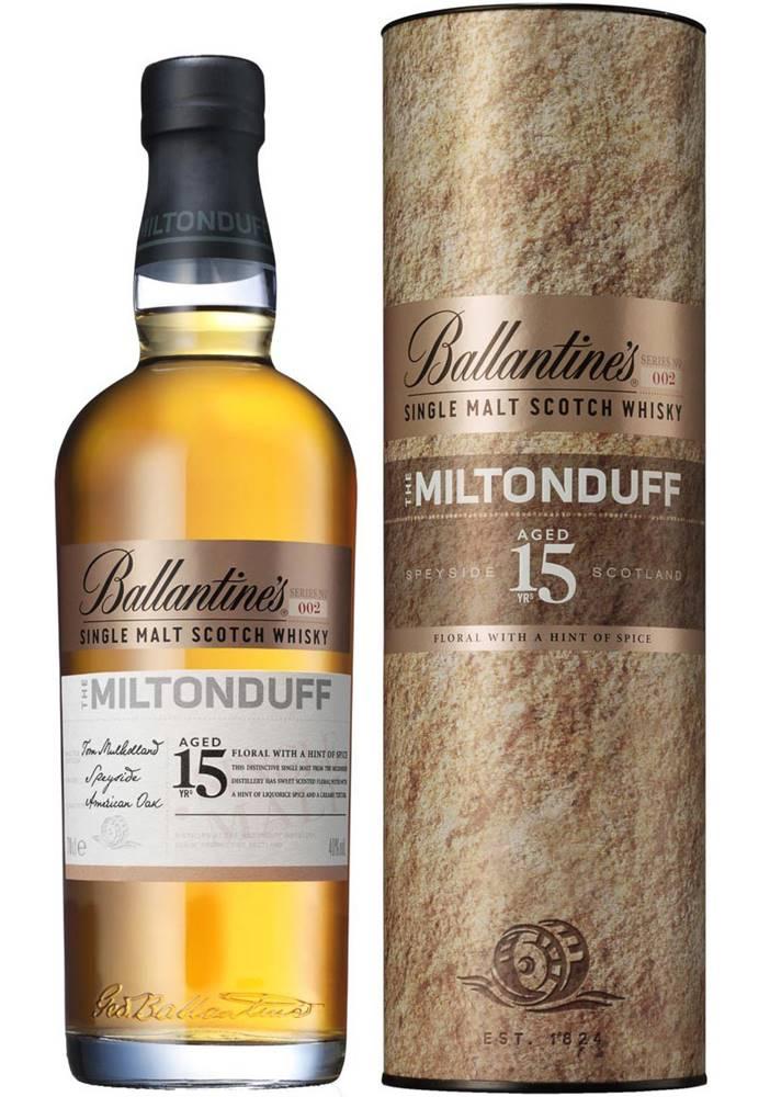 Ballantines Ballantines The Miltonduff 15 ročná 40% 0,7l