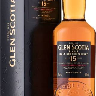 Glen Scotia 15 ročná 46% 0,7l