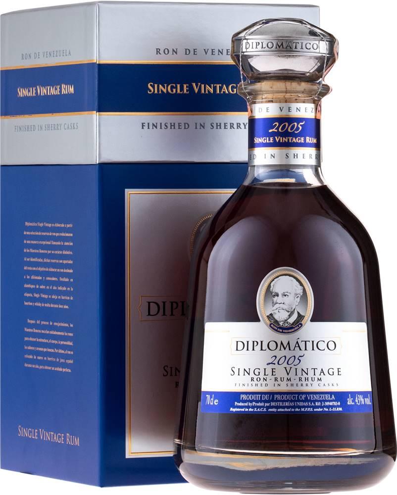 Diplomático Diplomático Single Vintage 2005 43% 0,7l
