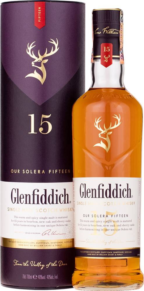 Glenfiddich 15 ročná 40% 0,7l