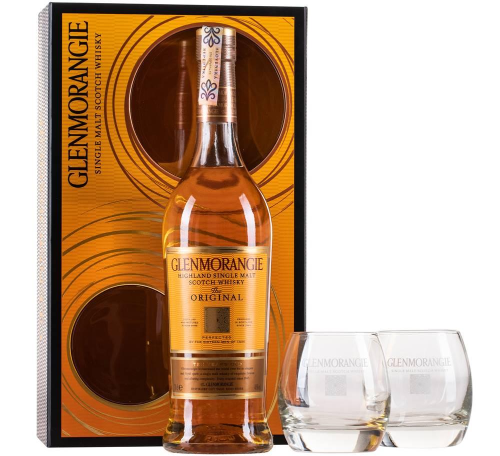 Glenmorangie Glenmorangie Original 10 ročná s 2 pohármi 40% 0,7l
