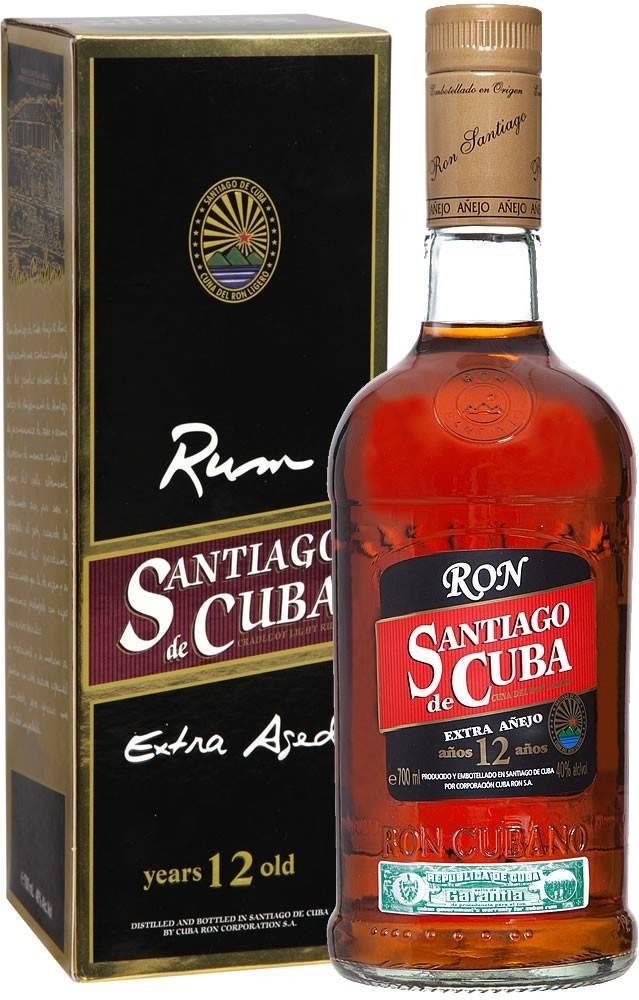 Santiago de Cuba Santiago de Cuba Extra Anejo 12 ročný 40% 0,7l