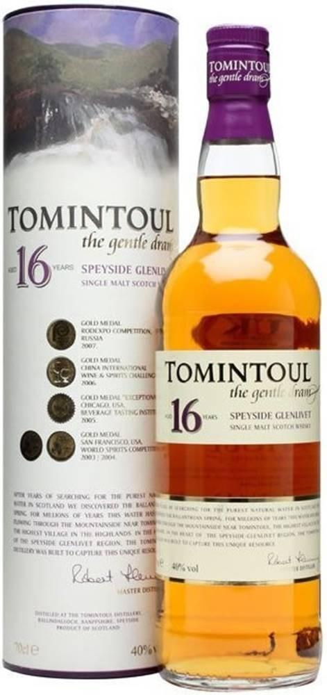 Tomintoul Tomintoul 16 ročná 40% 0,7l