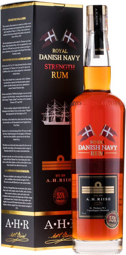 A.H.Riise A.H. Riise Royal Danish Navy Strength Rum 55% 0,7l