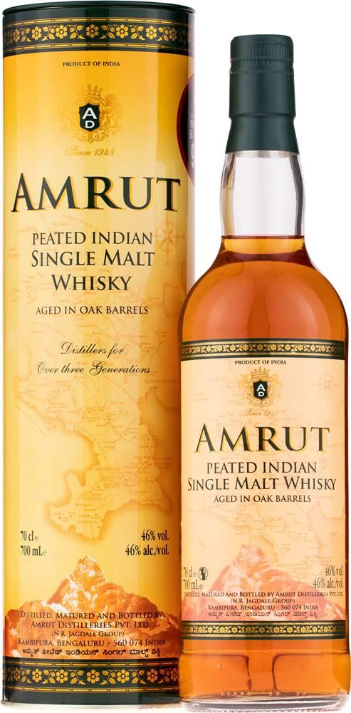 Amrut Amrut Peated Single Malt 46% 0,7l