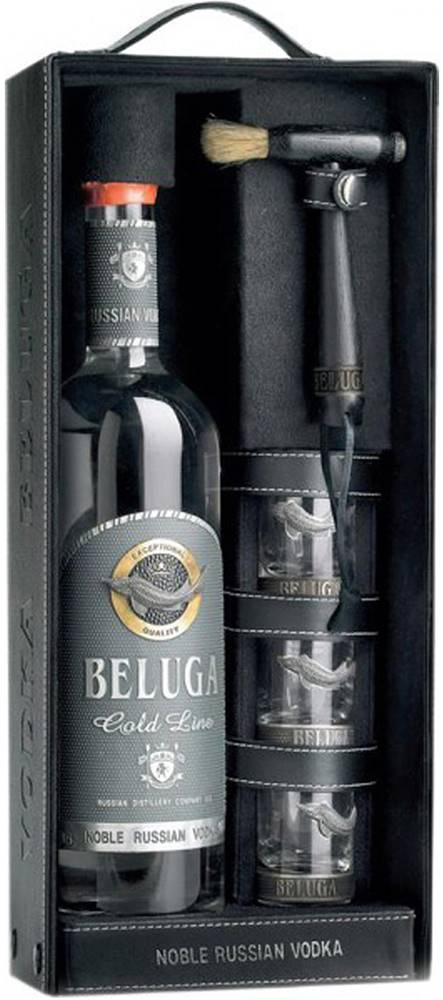 Beluga Beluga Gold Line s 3 pohármi 40% 0,7l