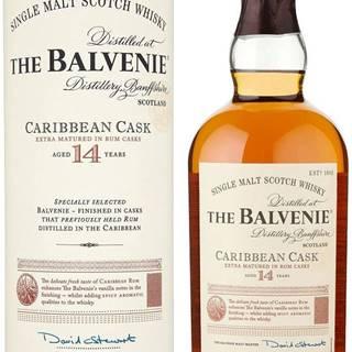 The Balvenie Caribbean Cask 14 ročná 43% 0,7l