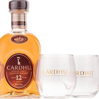 Cardhu 12 ročná  + 2 poháre 40% 0,7l