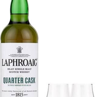 Laphroaig Quarter Cask + 2 poháre 48% 0,7l