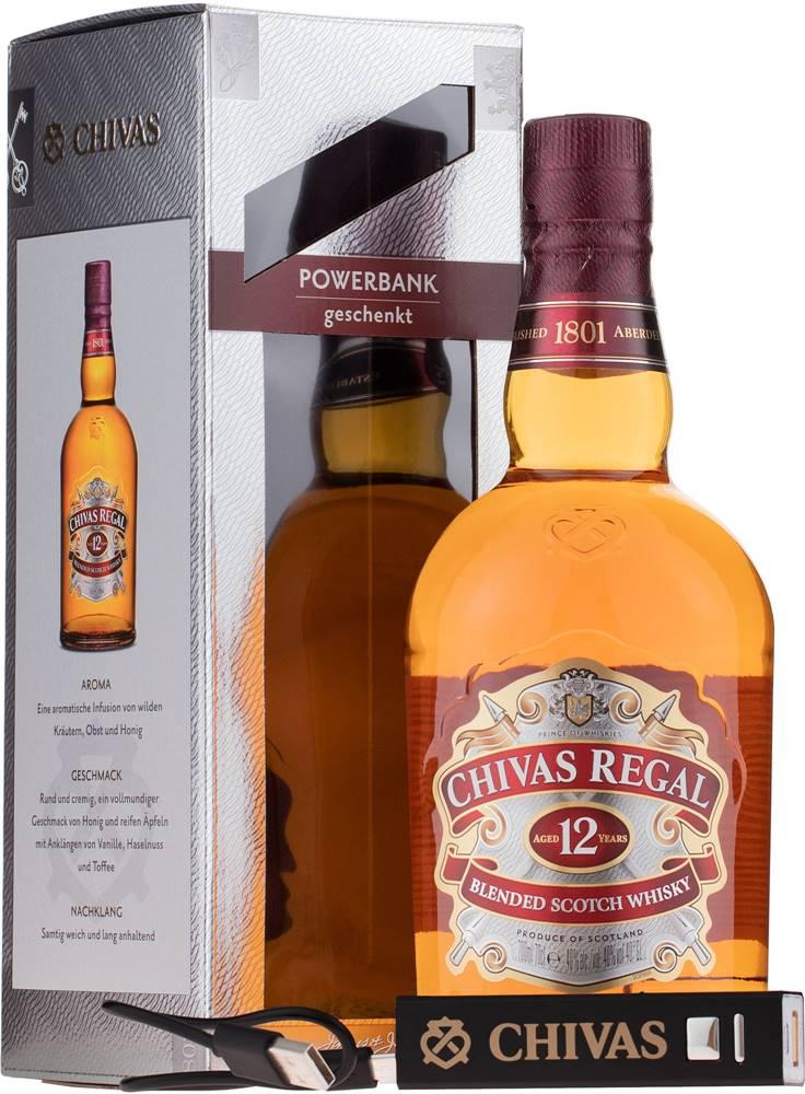 Chivas Chivas Regal 12 ročná + powerbanka 40% 0,7l
