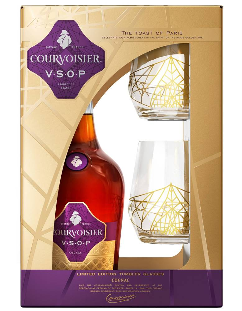 Courvoisier Courvoisier VSOP s 2 pohármi