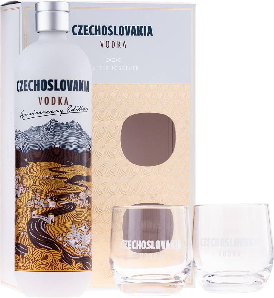 Karloff Czechoslovakia Vodka s 2 pohármi 40% 0,7l