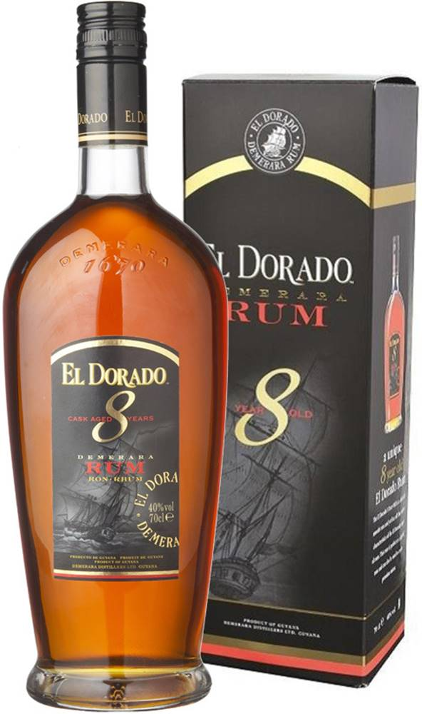 El Dorado El Dorado 8 ročný v kartóniku 40% 0,7l