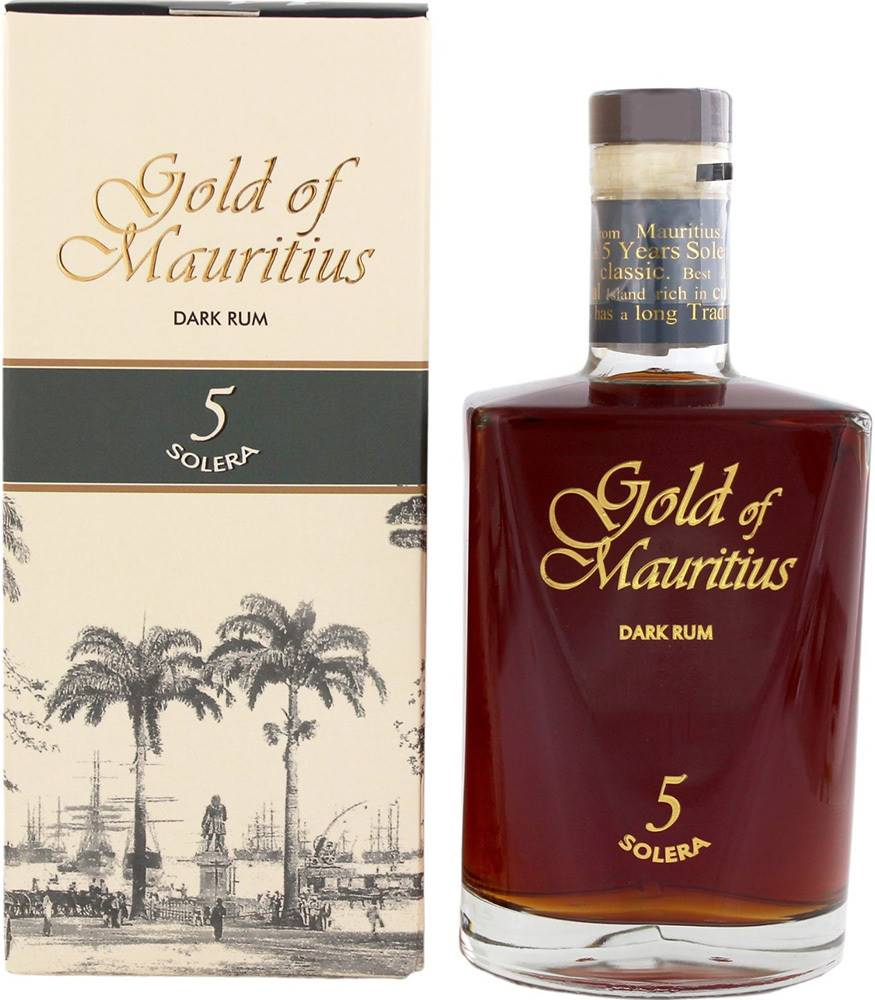 Gold of Mauritius Gold of Mauritius Dark Rum 5 Solera 40% 0,7l
