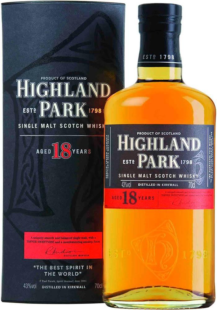Highland Park Highland Park 18 ročná 43% 0,7l