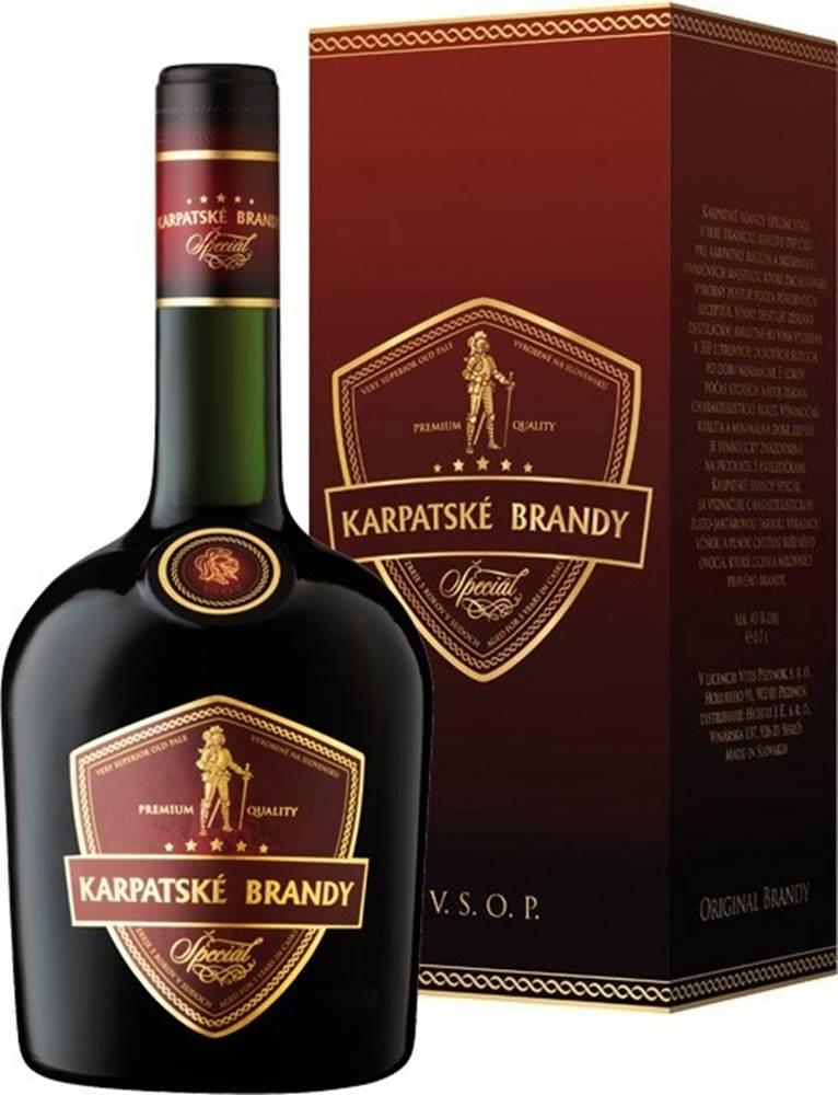 Karpatské Brandy Karpatské Brandy Špeciál v kartóniku 40% 0,7l