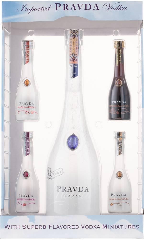 Pravda Pravda Vodka Gift Set 39,44% 0,9l