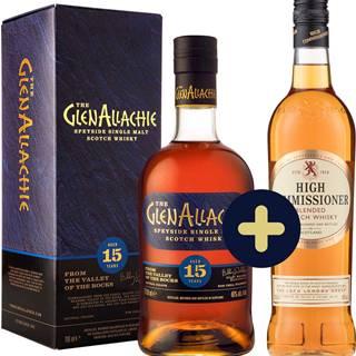 The GlenAllachie 15 ročná + High Commissioner zadarmo 43% 1,4l