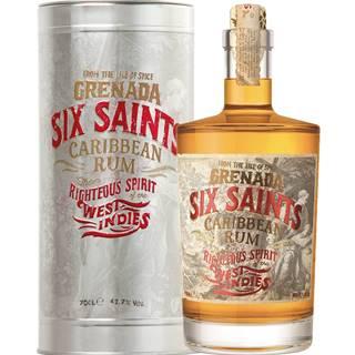 Six Saints Caribbean Rum v plechovej tube 41,7% 0,7l