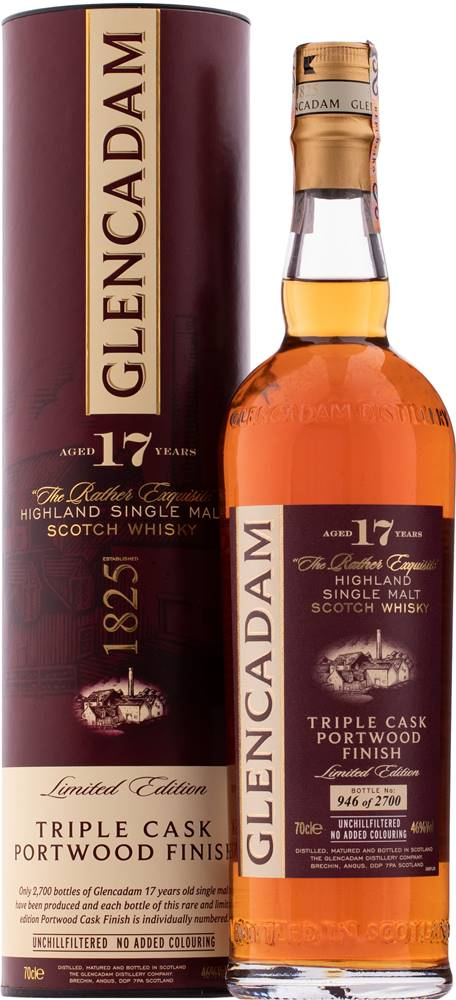 Glencadam Glencadam 17 ročná Old Triple Cask Portwood Finish 46% 0,7l