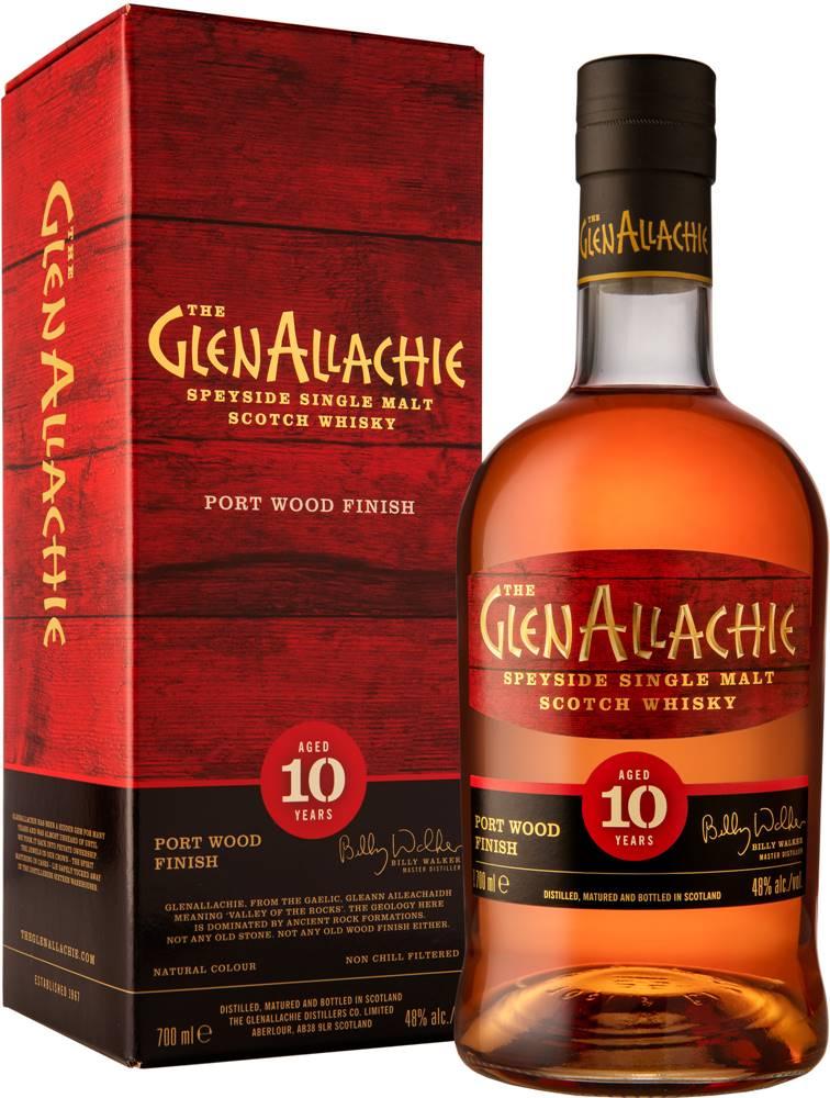 The GlenAllachie The GlenAllachie 10 ročná Port Wood Finish 48% 0,7l